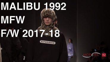 MALIBU 1992 | FALL WINTER 2017 – 2018 | BACKSTAGE + FULL FASHION SHOW