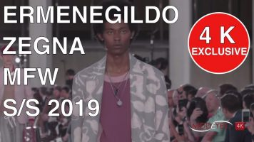 ERMENEGILDO ZEGNA | SPRING SUMMER 2019 | MENSWEAR FASHION SHOW | 4K EXCLUSIVE by  modeyes tv